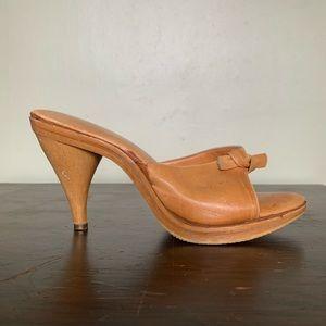 Vintage Leather Knot Sandal